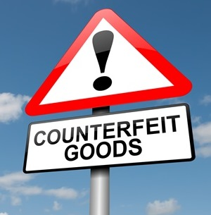 Counterfeit Goods Sign