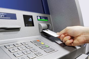 ATM with card