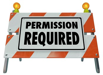 Permission required sign