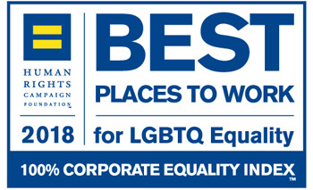 Best Places to Work for LGBTQ Equality - 100% Corporate Equality Index