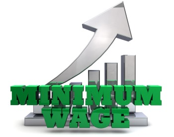 Minnimum wage arrow pointed up