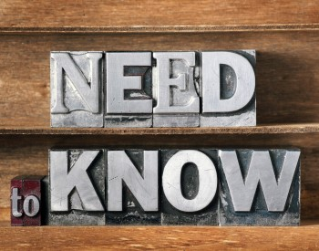 Need to Know Sign