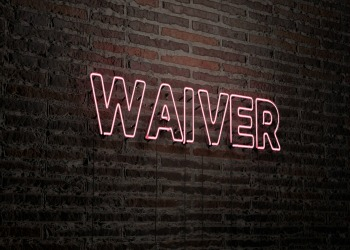 Brick Wall Waiver Sign