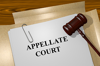 Appellate Court file with gavel