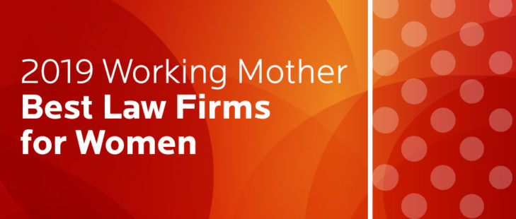 2019 Working Mother Best Law Firms for Women