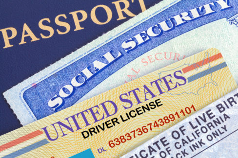 USA Passport with Social Security Card, Drivers License and Birth Certificate